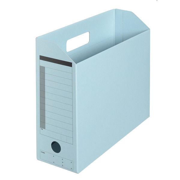 プラス ボックスファイル A4ヨコ ロイヤルブルー 78085 1セット(5冊:1冊×5)