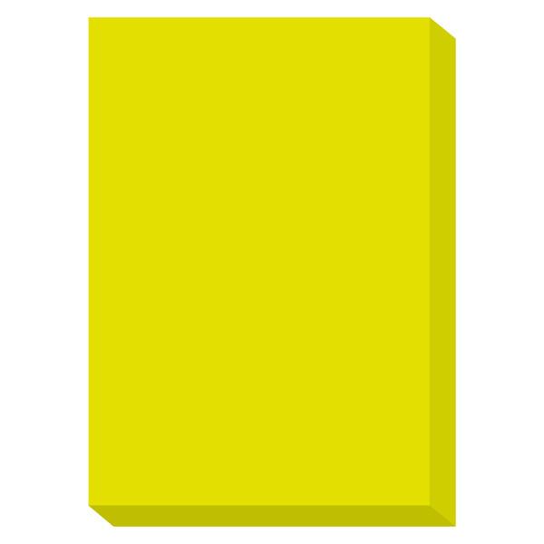 カラーペーパー ルシオライト 厚口 蛍光グリーン A4サイズ 1冊(250枚入)