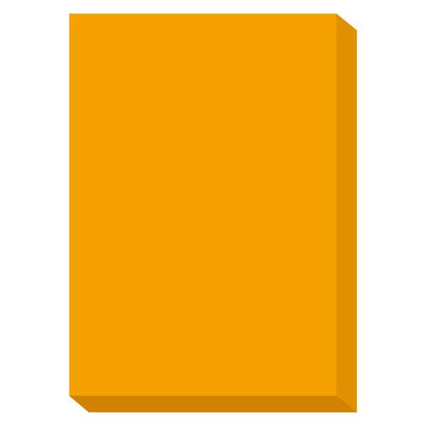 カラーペーパー ルシオライト 中厚口 蛍光オレンジ A4サイズ 1冊(250枚入)