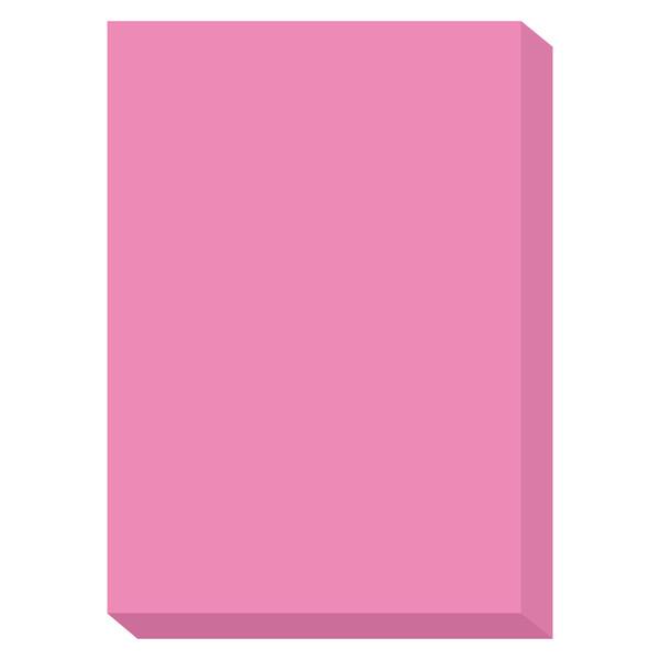 カラーペーパー ルシオライト 厚口 蛍光ピンク A4サイズ 1冊(250枚入)