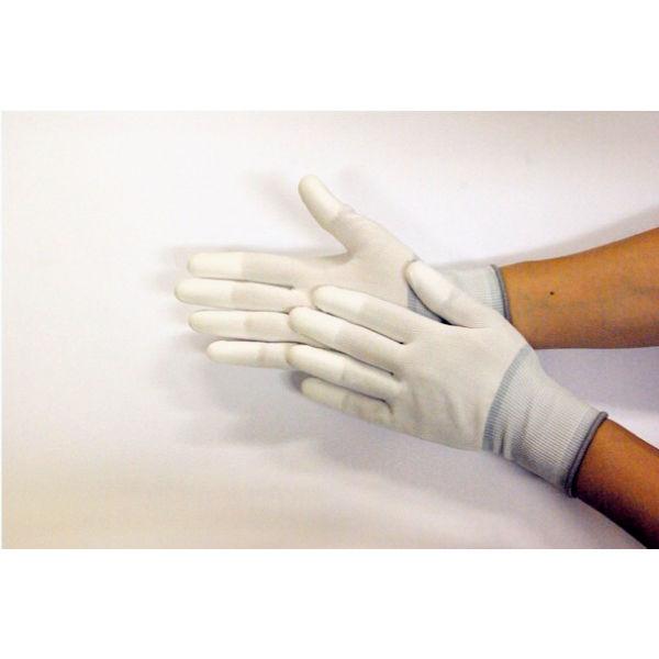【現場のチカラ】 川西工業 ウレタン指先コート手袋 13ゲージ ホワイト L AK2952L 1袋(10双入)