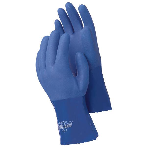【現場のチカラ】 川西工業 オールコート 耐油MAX ブルー L AK2302L 1袋(10双入)