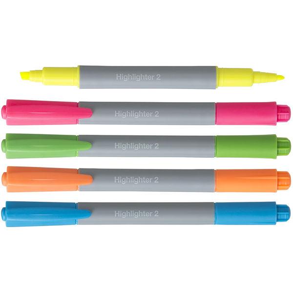 アスクル蛍光ペン ツイン 5色×各2本