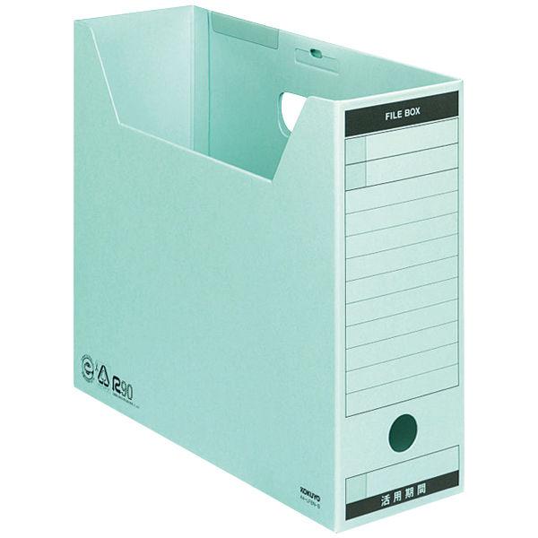 コクヨ ファイルボックス-FS Bタイプ A4ヨコ 背幅102mm ブルー A4-LFBN-B 1箱(50冊入)