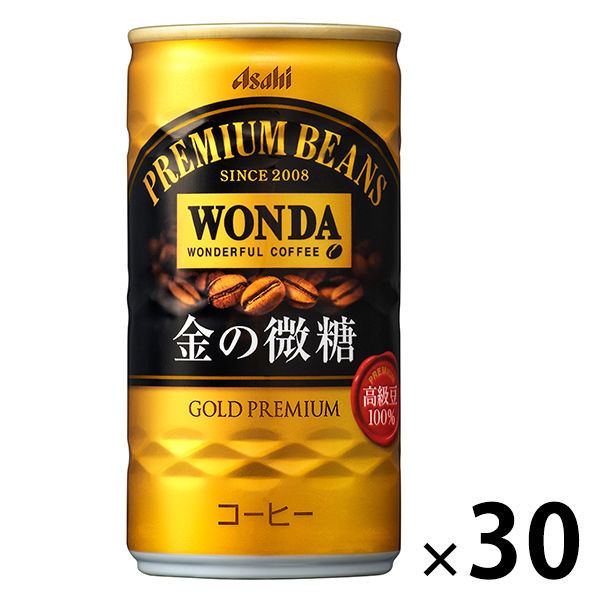 ワンダ 金の微糖 185g 30缶