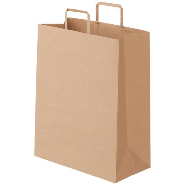 平紐 手提げ紙袋 茶 L 50枚