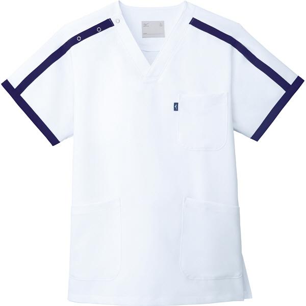 ミズノ ユナイト スクラブ(男女兼用) ホワイト 5L MZ0090 医療白衣 1枚 (取寄品)