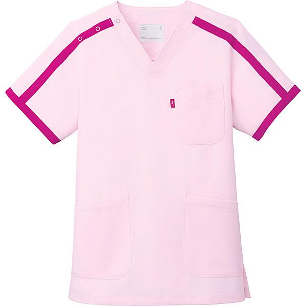 ミズノ ユナイト スクラブ(男女兼用) ピンク 5L MZ0090 医療白衣 1枚 (取寄品)