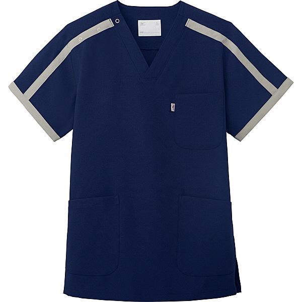 ミズノ ユナイト スクラブ(男女兼用) ネイビー L MZ0090 医療白衣 1枚 (取寄品)