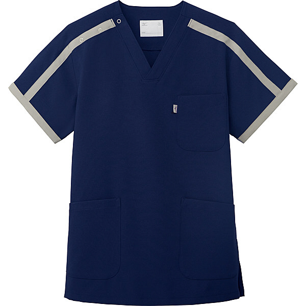 ミズノ ユナイト スクラブ(男女兼用) ネイビー S MZ0090 医療白衣 1枚 (取寄品)