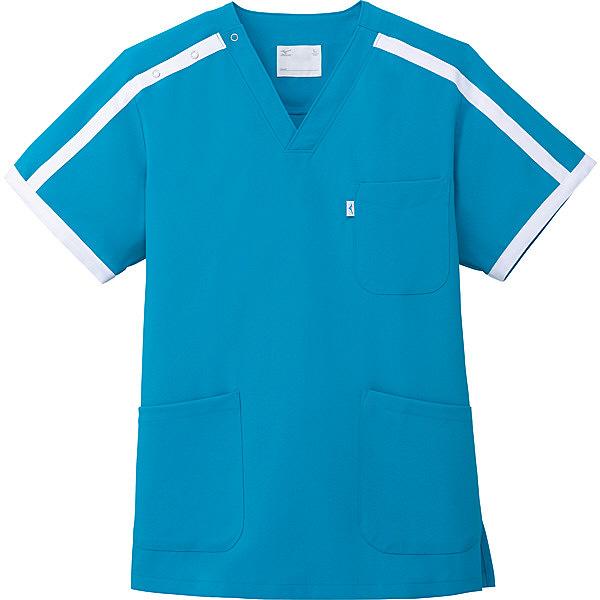 ミズノ ユナイト スクラブ(男女兼用) ターコイズ M MZ0090 医療白衣 1枚 (取寄品)