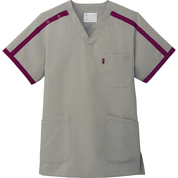 ミズノ ユナイト スクラブ(男女兼用) グレー M MZ0090 医療白衣 1枚 (取寄品)