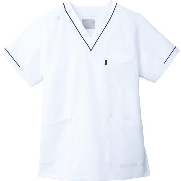 スクラブ MZ0092 ホワイト SS