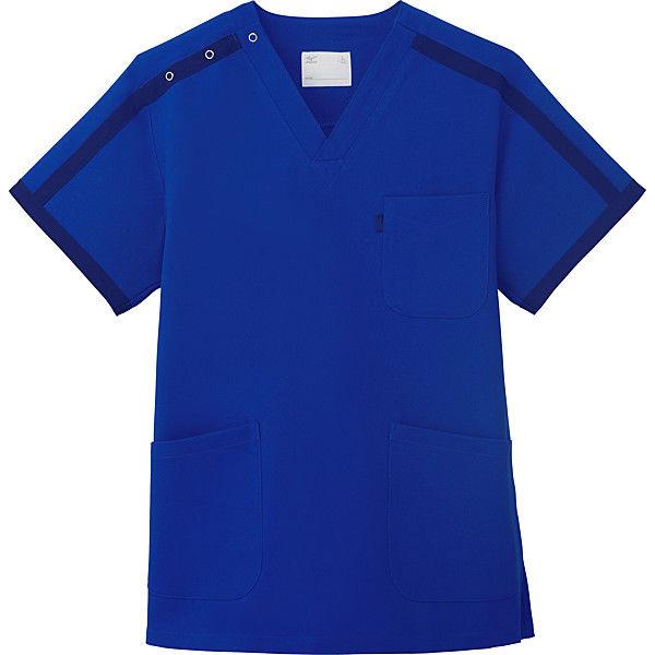 ミズノ ユナイト スクラブ(男女兼用) ブルーネイビー S MZ0090 医療白衣 1枚 (取寄品)