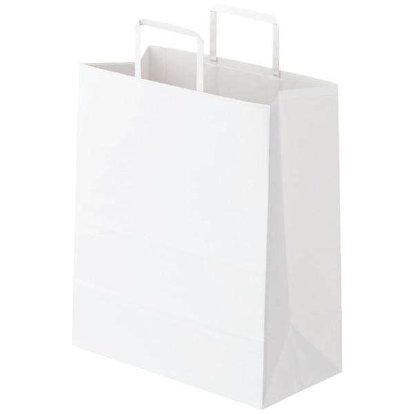 平紐 手提げ紙袋 白 M 300枚