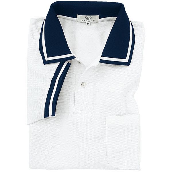 トンボ キラク ポロシャツ男女兼用 M CR078-01-M (取寄品)