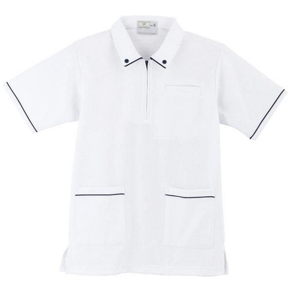 トンボ キラク ケアワークシャツ男女兼用 LL CR117-01-LL (取寄品)