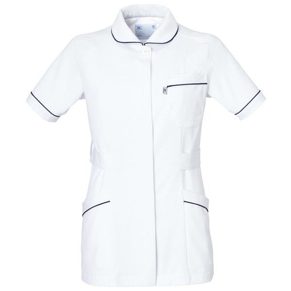 ミズノ ユナイト ジャケット(女性用) ホワイト S MZ0007 医療白衣 ナースジャケット 1枚 (取寄品)