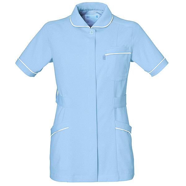 ミズノ ユナイト ジャケット(女性用) サックス S MZ0007 医療白衣 ナースジャケット 1枚 (取寄品)