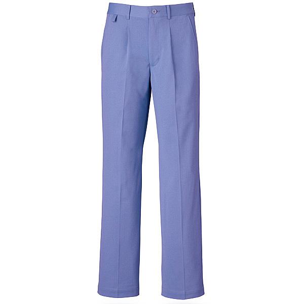 ミズノ ユナイト パンツ(男性用) ブルー LL MZ0016 医療白衣 メンズパンツ 1枚 (取寄品)