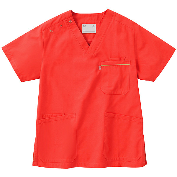 ミズノ ユナイト スクラブ(男女兼用) コーラル SS MZ0018 医療白衣 1枚 (取寄品)