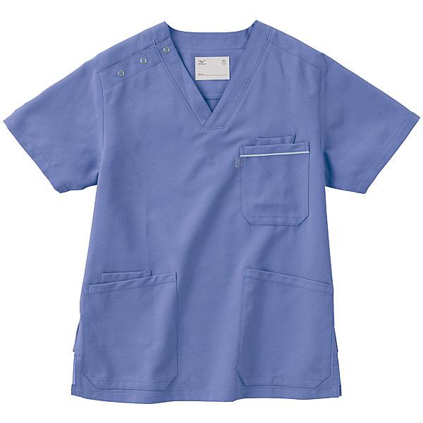 ミズノ ユナイト スクラブ(男女兼用) ブルー L MZ0018 医療白衣 1枚 (取寄品)