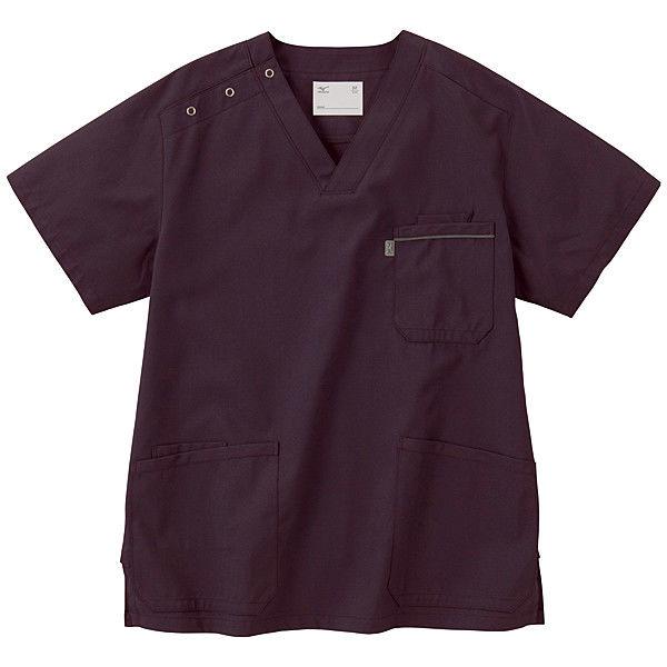 ミズノ ユナイト スクラブ(男女兼用) パープル 3L MZ0018 医療白衣 1枚 (取寄品)