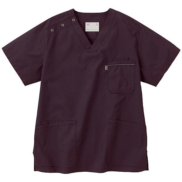 ミズノ ユナイト スクラブ(男女兼用) パープル M MZ0018 医療白衣 1枚 (取寄品)