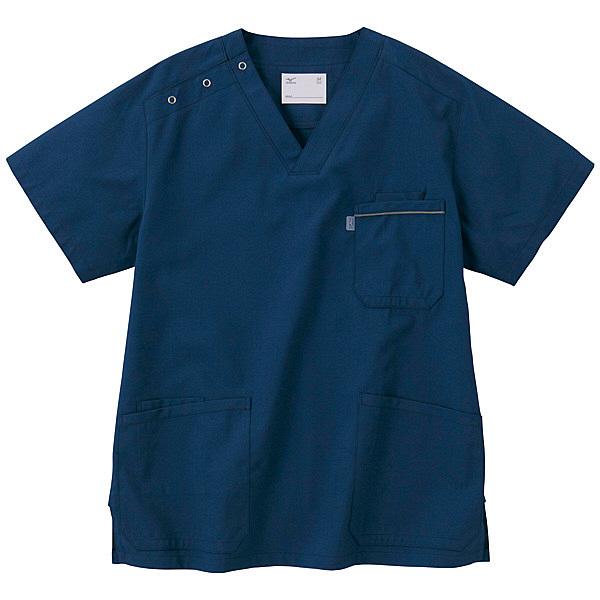 ミズノ ユナイト スクラブ(男女兼用) ネイビー 5L MZ0018 医療白衣 1枚 (取寄品)
