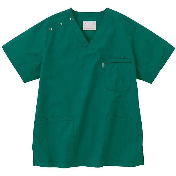 ミズノ ユナイト スクラブ(男女兼用) グリーン L MZ0018 医療白衣 1枚 (取寄品)