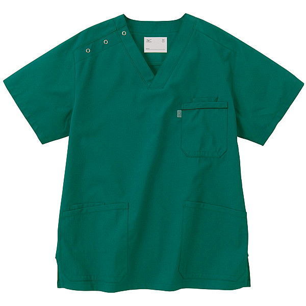 ミズノ ユナイト スクラブ(男女兼用) グリーン M MZ0018 医療白衣 1枚 (取寄品)