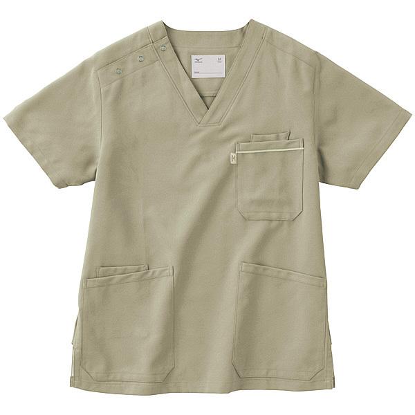 ミズノ ユナイト スクラブ(男女兼用) グレー SS MZ0018 医療白衣 1枚 (取寄品)