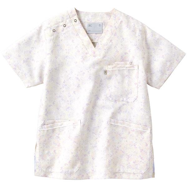 ミズノ ユナイト スクラブ(男女兼用) ピンク S MZ0020 医療白衣 1枚 (取寄品)