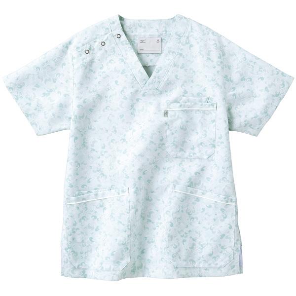 ミズノ ユナイト スクラブ(男女兼用) サックス LL MZ0020 医療白衣 1枚 (取寄品)