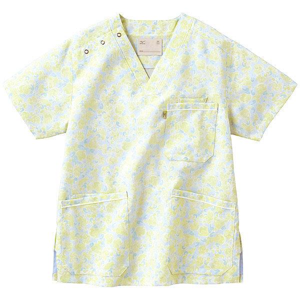 ミズノ ユナイト スクラブ(男女兼用) グリーン L MZ0020 医療白衣 1枚 (取寄品)