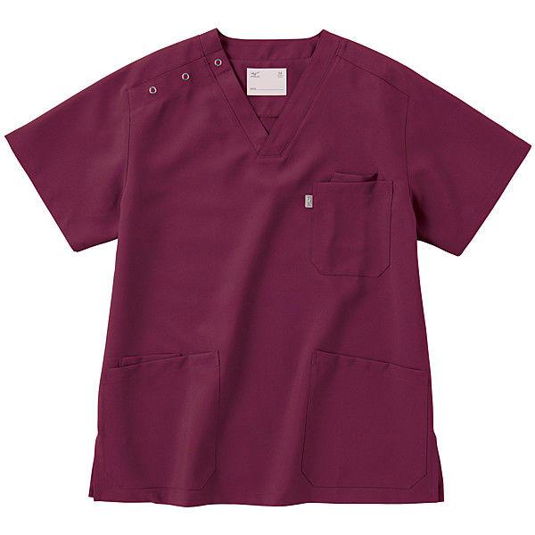 ミズノ ユナイト スクラブ(男女兼用) ワイン S MZ0021 医療白衣 1枚 (取寄品)