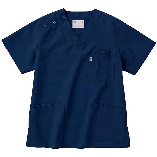 ミズノ ユナイト スクラブ(男女兼用) ネイビー M MZ0021 医療白衣 1枚 (取寄品)