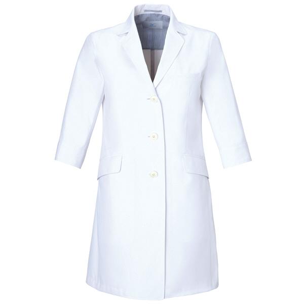 ミズノ ユナイト ドクターコート(女性用) ホワイト L MZ0024 医療白衣 診察衣 薬局衣 1枚 (取寄品)