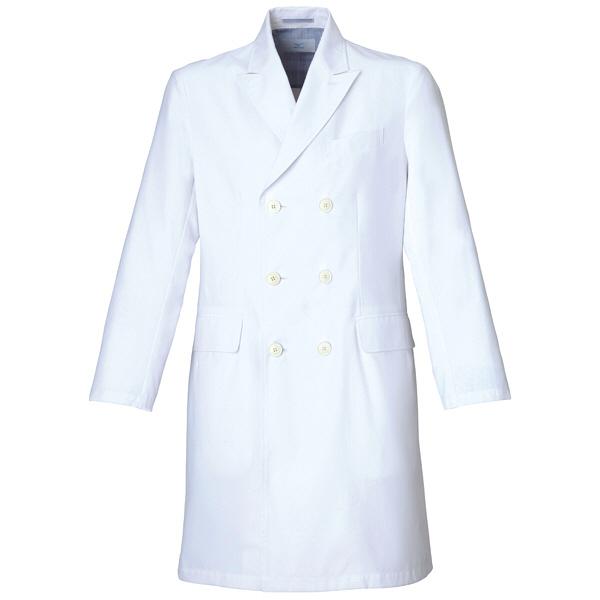 ミズノ ユナイト ドクターコート(男性用) ホワイト S MZ0026 医療白衣 診察衣 薬局衣 1枚 (取寄品)