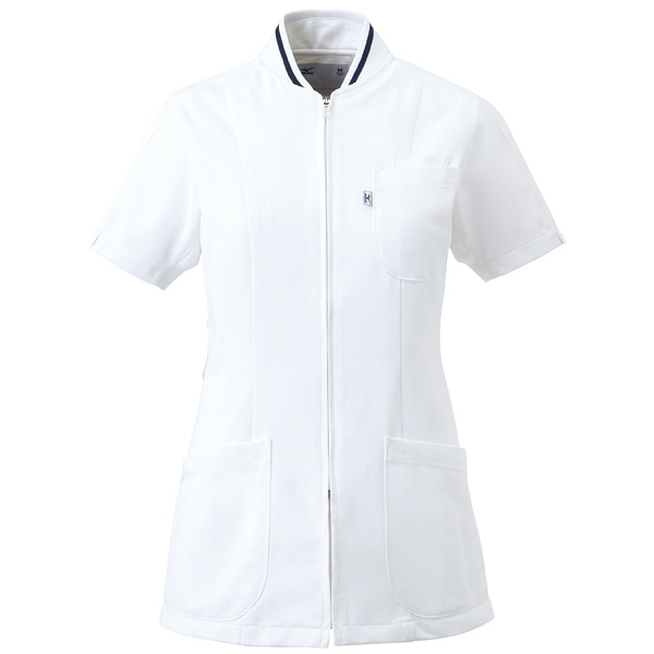 ミズノ ユナイト ジャケット(女性用) ホワイト LL MZ0045 医療白衣 ナースジャケット 1枚 (取寄品)