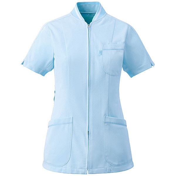 ミズノ ユナイト ジャケット(女性用) サックス 3L MZ0045 医療白衣 ナースジャケット 1枚 (取寄品)