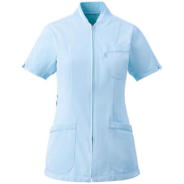 ミズノ ユナイト ジャケット(女性用) サックス L MZ0045 医療白衣 ナースジャケット 1枚 (取寄品)