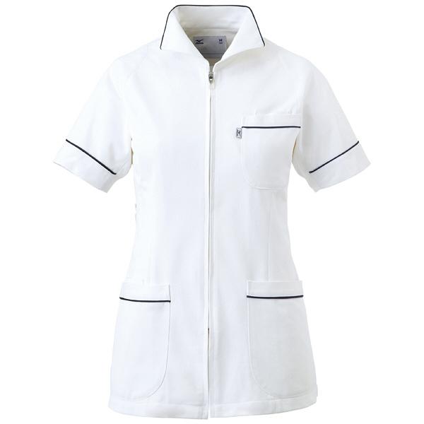 ミズノ ユナイト ジャケット(女性用) ホワイト L MZ0047 医療白衣 ナースジャケット 1枚 (取寄品)