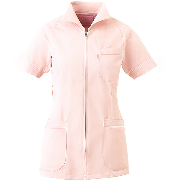 ミズノ ユナイト ジャケット(女性用) ピンク LL MZ0047 医療白衣 ナースジャケット 1枚 (取寄品)
