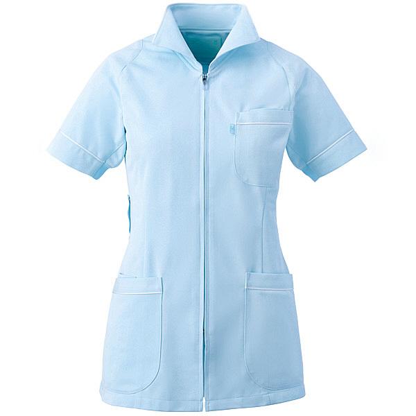 ミズノ ユナイト ジャケット(女性用) サックス M MZ0047 医療白衣 ナースジャケット 1枚 (取寄品)