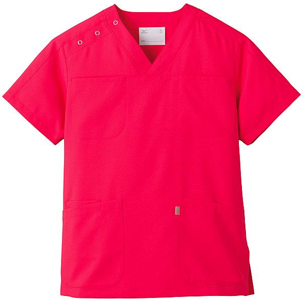 ミズノ ユナイト スクラブ(男女兼用) コーラルピンク SS MZ0051 医療白衣 1枚 (取寄品)