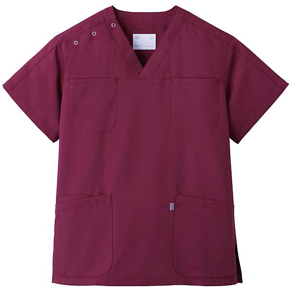 ミズノ ユナイト スクラブ(男女兼用) ワイン S MZ0051 医療白衣 1枚 (取寄品)