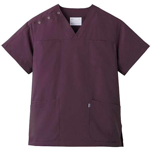 ミズノ ユナイト スクラブ(男女兼用) パープル 3L MZ0051 医療白衣 1枚 (取寄品)