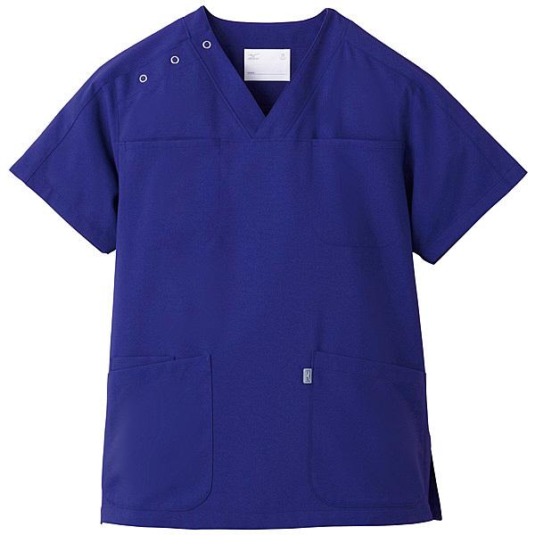 ミズノ ユナイト スクラブ(男女兼用) ネイビー LL MZ0051 医療白衣 1枚 (取寄品)