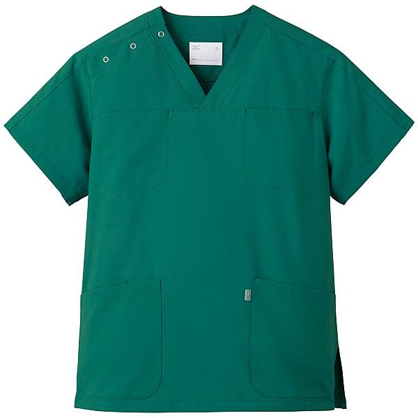 ミズノ ユナイト スクラブ(男女兼用) グリーン L MZ0051 医療白衣 1枚 (取寄品)